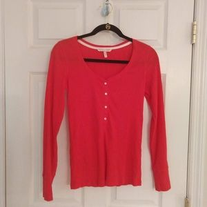 Victoria's Secret Henley - Red - Size Small